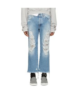 PALM ANGELS | Blue Distressed Jeans