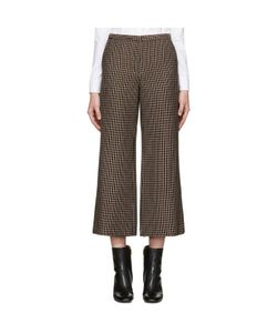 ROSETTA GETTY | Brown Check Flared Trousers