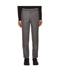 Wooyoungmi | Grey Blanket Stitch Trousers