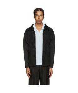 HOMME PLISSE ISSEY MIYAKE | Homme Plissé Issey Miyake Black Pleated Zip-Up Sweater