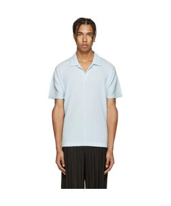 HOMME PLISSE ISSEY MIYAKE | Homme Plissé Issey Miyake Blue Pleated Polo
