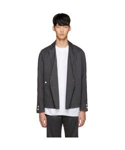 Sunnei | Grey Flannel Kimono Blazer