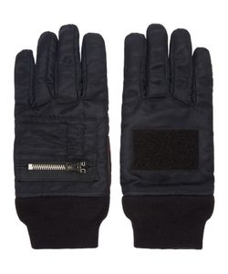 ganryu | Black Nylon Zip Gloves