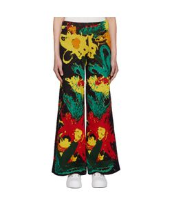 Writtenby | Multicolor Floral Knit Trousers