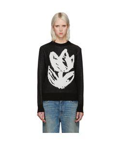 Writtenby | Black Tulip Knit Sweater