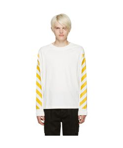 Moncler O | White Striped Sleeves T-Shirt