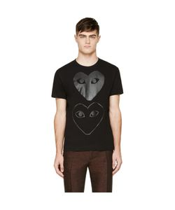 Comme des Gar ons Play | Comme Des Garçons Play Black Two Hearts T-Shirt