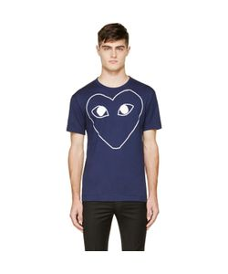 Comme des Gar ons Play | Comme Des Garçons Play Navy And White Logo T-Shirt
