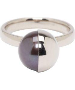 MELANIE GEORGACOPOULOS   White Gold Peacock Pearl Tasaki Edition Ring