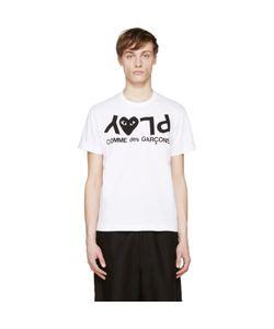 Comme des Gar ons Play | Comme Des Garçons Play White And Black Logo T-Shirt