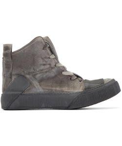 BORIS BIDJAN SABERI | Grey Leather Bamba 1 High-Top Sneakers