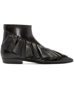 J.W. Anderson | J.W.Anderson Black Ruffled Ankle Boots