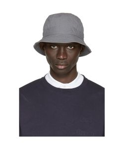 Moncler Gamme Bleu | Grey Seersucker Bucket Hat