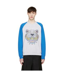 Kenzo | Grey And Blue Raglan Tiger Pullover