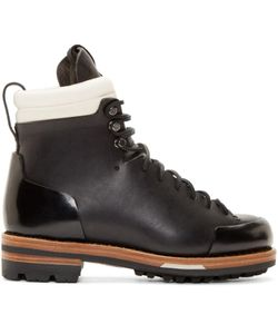 Feit | Black Leather Arctic Hiker Boots