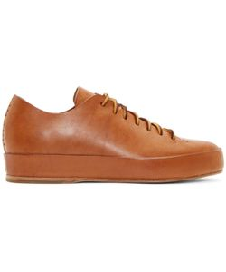 Feit | Brown Leather Low-Top Sneakers