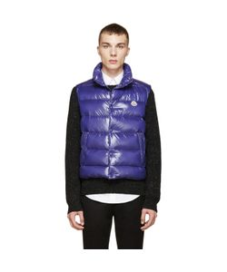 Moncler | Blue Shiny Tib Down Vest