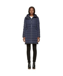Moncler | Navy Down Flammette Coat