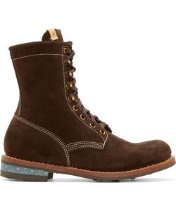 Visvim | Brown Suede Brigadier H-Folk Boots