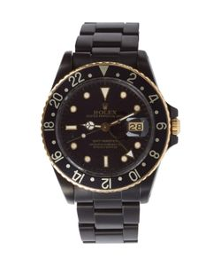 Black Limited Edition | Matte Black And Gold Limited Edition Rolex Gmt