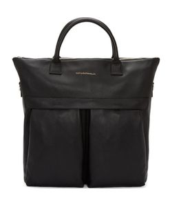 Want Les Essentiels | Black Leather Ohare Shopper Tote