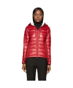 Canada Goose | Red Nylon And Knit Hybridge Hoodie Jacket