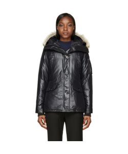 Canada Goose | Black Down Fur-Trimmed Montebello Jacket