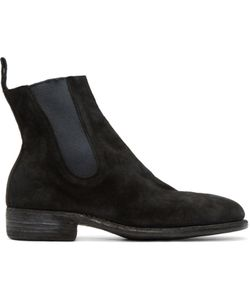 GUIDI | Black Suede Chelsea Boots