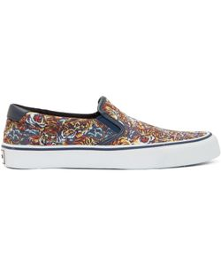 Kenzo | Blue And Orange Flying Tiger Slip-On Sneakers