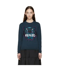 Kenzo | Blue Embroidered Tiger Sweatshirt
