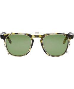 GARRETT LEIGHT | Tortoiseshell Clip-On Brooks Glasses