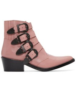 Toga Pulla | Pink Western Buckle Boots