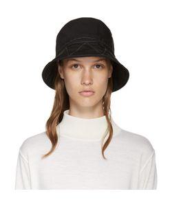 AND WANDER   Black Nylon Bucket Hat