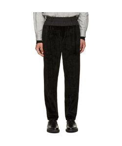 TOGA VIRILIS | Black Faux-Fur Lounge Pants
