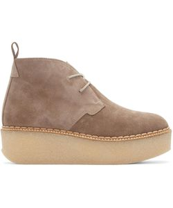 FLAMINGO'S   Flamingos Taupe Suede Polk Ankle Boots