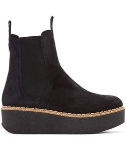 FLAMINGO'S   Flamingos Black Suede Deltona Ankle Boots