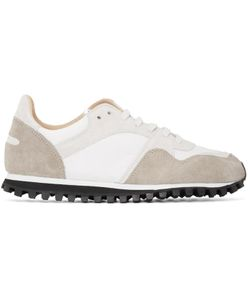 SPALWART | White And Beige Marathon Trail Sneakers