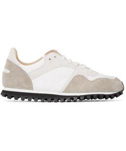 SPALWART | White And Beige Marathon Trail Sneakers