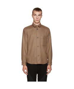 08SIRCUS   Brown Wool Flannel Shirt