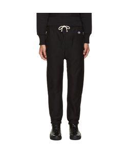 Champion x Beams | Black Reverse Weave Lounge Pants