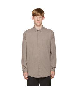 ROBERT GELLER | Grey Shadow Strip Shirt