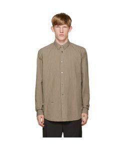 ROBERT GELLER | Beige Striped Vintage Shirt