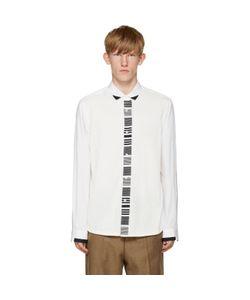 Tomorrowland | White Knit Panel Shirt