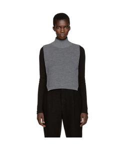 Ys | Grey Mock Neck Collar