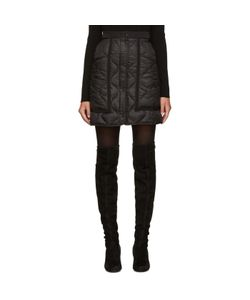 Moncler | Black Quilted Down Miniskirt