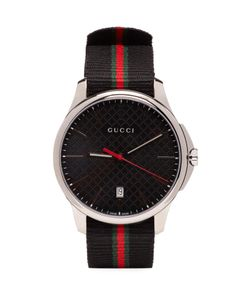 Gucci   Silver And G-Timeless Watch