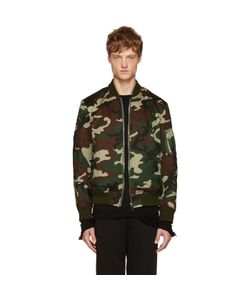 CHRISTIAN DADA | Green Camo Araki Patch Bomber Jacket