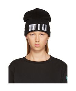 MARCELO BURLON COUNTY OF MILAN | Black Sajama Beanie