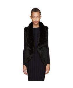 Yves Salomon | Black Knit Fur Vest
