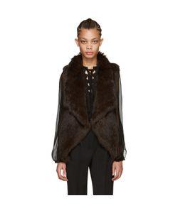 Yves Salomon | Brown Knit Fur Vest
